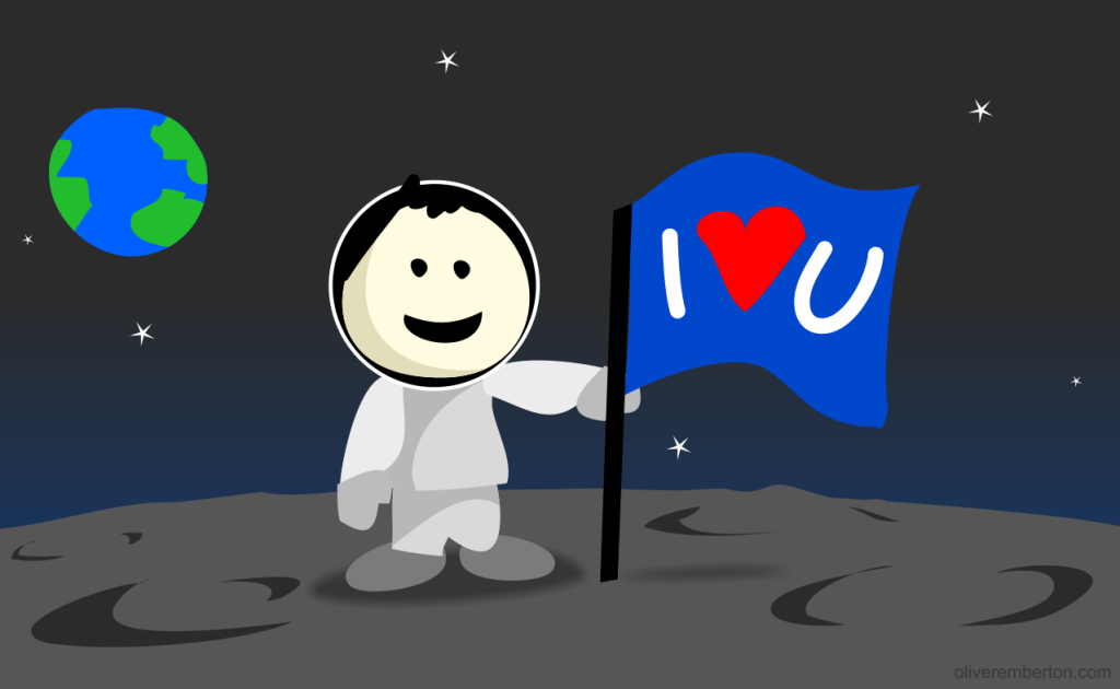I love you, space