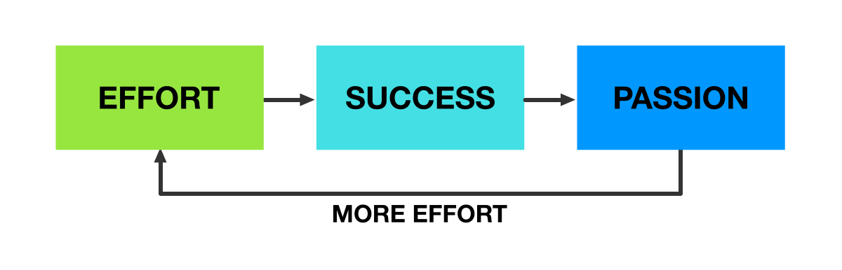 The virtuous cycle of effort, success and passion